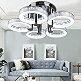 Oanon Chandelier, European Modern Style LED Acrylic Chandeliers Ceiling Light Lamp Pendant Lamp with 5 Lights Hallway Dining Room Bedroom [US Stock] (Round) Review
