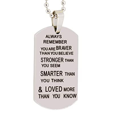 Amazon.com: Acero inoxidable Collar Inspirational ...
