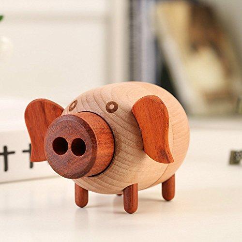 US Warehouse – Caja de música con diseño de animales clásico, de madera, para manualidades, juguetes, colección de...