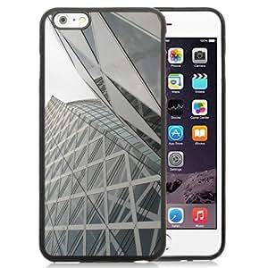 NEW Unique Custom Designed iPhone 6 Plus 5.5 Inch Phone Case With Tokyo Architecture Glass Building Skyscraper_Black Phone Case wangjiang maoyi