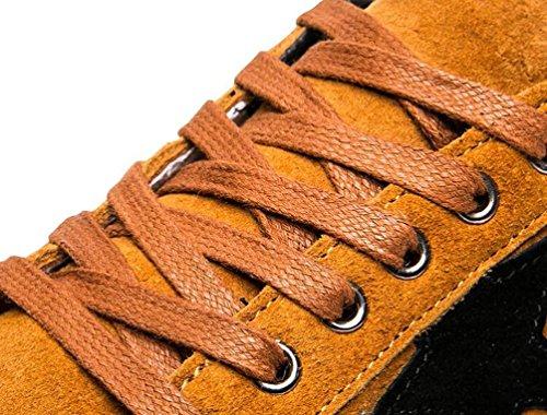 Scrub la lona de las zapatillas de deporte ocasionales de los zapatos ocasionales suaves del cordón de las plantas suaves de los zapatos suaves antideslizantes del cordón del ocio de la manera de los  Black