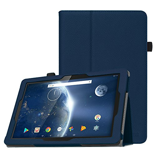 Fintie Folio Case for Dragon Touch 10.1 inch X10 (2017 Edition), Fusion5 104+, IVIEW-1070TPC-II 10.1-Inch Android Tablet, Premium PU Leather Stand Cover with Stylus Holder, Navy