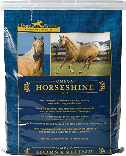 Flax Coat (Omega Horseshine The Omega 3 Supplement, Helps Maintain a Shiny Healthy Coat , 20 lb)