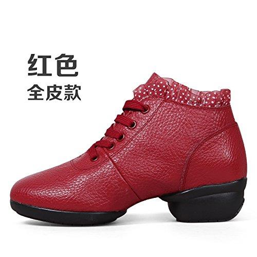 Claret Trente-quatre Wuyulunbi@ Avec des chaussures de danse Chaussures de danse de plancher
