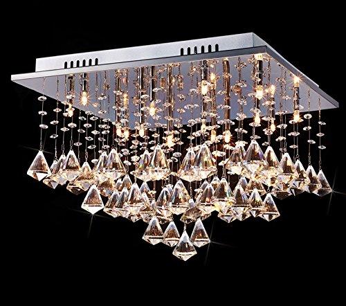 Saint mossi modern k9 crystal raindrop chandelier lighting flush saint mossi modern k9 crystal raindrop chandelier lighting flush mount ceiling light fixture pendant lamp for aloadofball Gallery