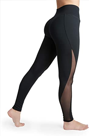 Liakada Ladies High Waisted Sheer Legging Gym Dance Yoga Aerobics Cheer Everyday At Amazon Women S Clothing Store