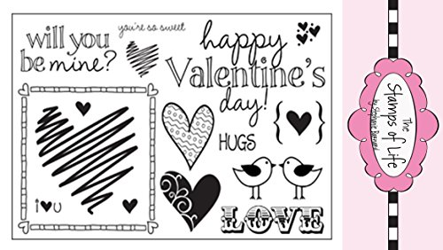 - Heart Stamps for Card-Making and Scrapbooking Supplies by The Stamps of Life - Hearts2Love Sentiments