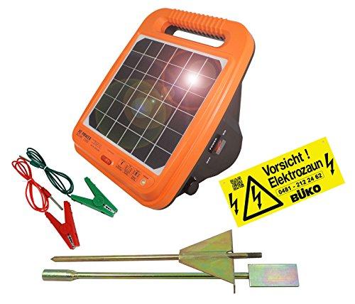 Eider Weidezaungerät Solar XE-Power 1200 - extra stark - 12.000 V inkl. integrierten Akku
