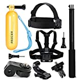 ASOCEA Action Camera Accessory Bundle Kit Chest Mount + Head Strap + Floating Handle Grip + Selfie Stick for Gopro Hero 5 APEMAN YI 4K SJ4000 Vivitar VTech Kidzoom Sport Waterproof Cameras