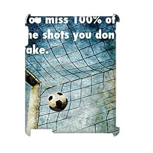 Custom Cover Case with Hard Shell Protection for Ipad2,3,4 3D case with soccer ball lxa#256193