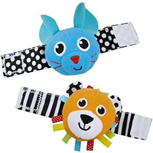 Sassy Lion and Mouse Wrist Rattles