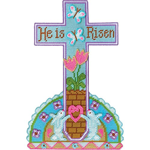 Plastic Canvas Cross (Design Works He Is Risen Wall Hanging Plastic Canvas Kit)