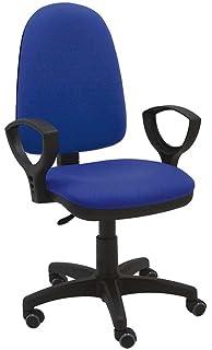 La Silla de Claudia - Silla giratoria Torino azul ergonómica reposabrazos y asiento ajustable con…