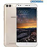 "Unlocked Cell Phones, DOOGEE X30 Dual Sim Unlocked Phones Android 7.0 With 5.5"" HD IPS Display - 2GB RAM + 16GB ROM - 8MP Dual Cameras - 3360mAh Battery - 3G Unlocked Smartphones - Gold"