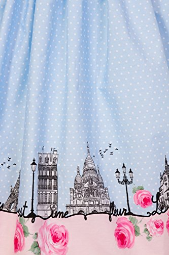 Polka Paname 1950 Rockabilly Vintage avec de Hell Paris Jupe jupe Bunny en Retro Annes bord pq8AEY
