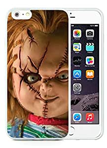 Scary Chucky Doll White Case with Unique and Luxurious Protective for TPU iPhone 6 Plus 5.5 inch