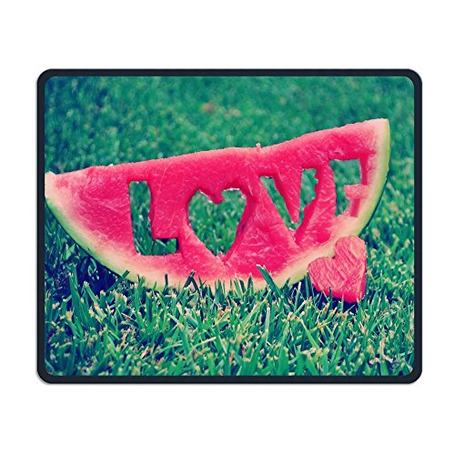 Mouse Pad Love Carved In Watermelon Rectangle Rubber Mousepad Length 8.66 Width 7.09 Inch Gaming Mouse Pad For Creative -