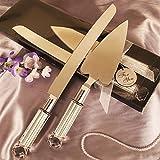 Heart Shaped Cake Server And Cake Knife Set - 60 Sets