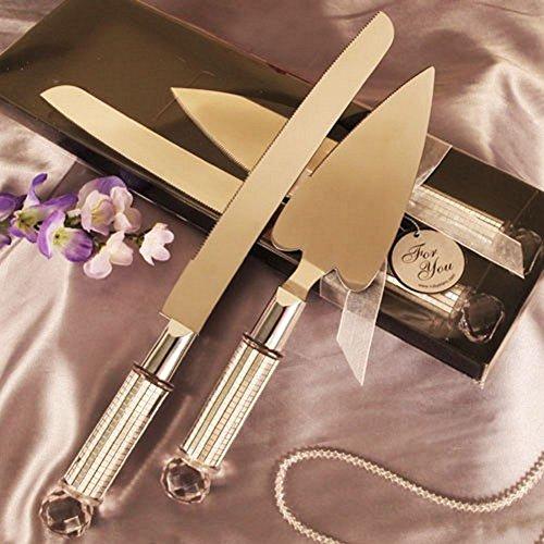 Heart Shaped Cake Server And Cake Knife Set - 36 Sets by R & B (Image #1)