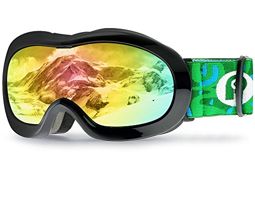 Picador Kids Ski Goggles With Excellent Impact Resistance Anti-Fog Lens 100% UV Protection (Child Ski Goggles)