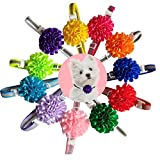 yagopet 10pcs/pack Puppy Cat Dog Bow Ties Reflective bands Flower ball collar Cat Dog Bowties Collar Festival Dog Ties Dog Grooming Accessories