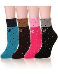 Women's Super Soft Warm Cute Fuzzy Winter Crew Socks...