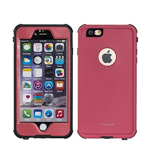 iPhone 6S Waterproof Case, iThrough New iPhone 6S Waterproof Case, Dust Proof, Snow Proof, Shock Proof Case, Heavy Duty Protective Carrying Cover Case for iPhone 6S, iPhone 6 (4.7 Inches) (Pink)