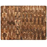 Terra Teak Large End Grain Cutting Board 24x18 Wood