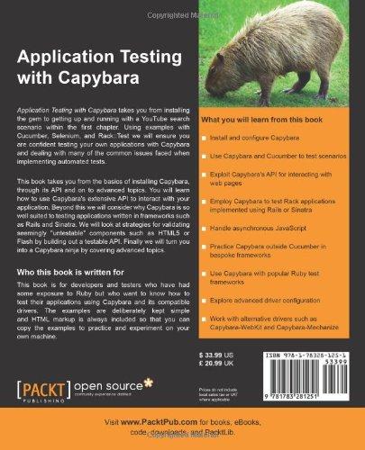Application testing with capybara matthew robbins 9781783281251 application testing with capybara matthew robbins 9781783281251 amazon books fandeluxe Images