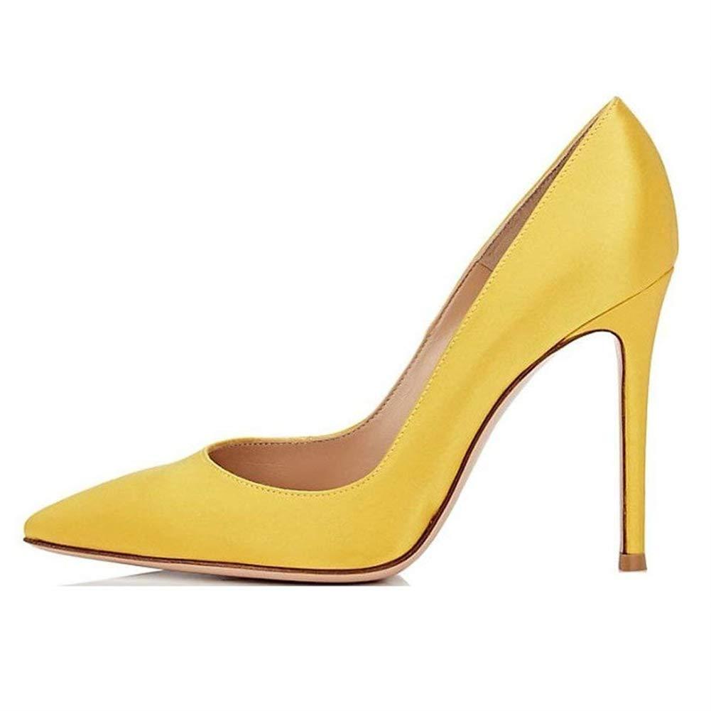 Caitlin Pan Robe B074KFFML8 Femmes Escarpins Classique Talons Hauts Satin 19443 Bout Pointu Diamants Talon Aiguille Chaussures de Robe Yellow-satin-10cm/Semelle Rouge f480f19 - automaticcouplings.space