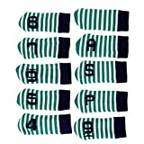 Baosity 10 Pcs Stripe Knitting Golf Iron Covers Set Golf Club Head Cover Fit Most Irons and Wedges