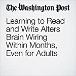 Learning to Read and Write Alters Brain Wiring Within Months, Even for Adults | Anil Ananthaswamy
