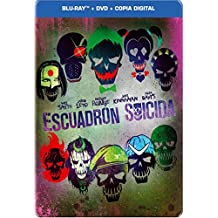 SUICIDE SQUAD Steelbook: Blu-ray [Extended &Theatrical Version] + DVD + Digital Copy (Audio & Subtitles: English, Spanish, French and Portuguese) - IMPORT