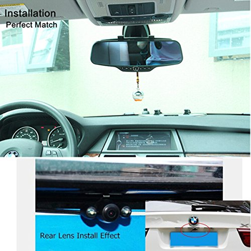 Dash Cam,4.3'' Full HD 1080P Rearview Mirror Dual Lens Video Recorder Car DVR 170 Degree Wide Angle, Loop Recording,G-Sensor,Parking Monitor,Reverse Image by Range Tour (Image #6)