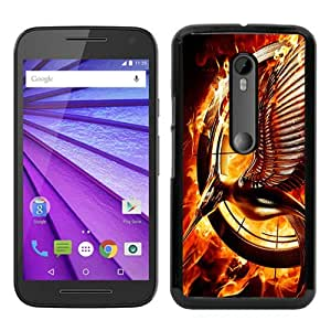 Popular Motorola Moto G 3rd Generation Case ,Fashionable And Unique Designed Case With Catching Fire Black Moto G 3rd Gen Cover High Quality Phone Case