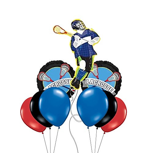 Lacrosse Themed Jumbo Mylar Balloon Bouquet ()