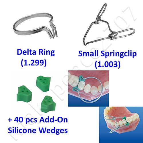 Delta Ring +Springclip +40pcs Elastic Wedges Sectional Contoured Matrices Matrix - Sectional Wedge