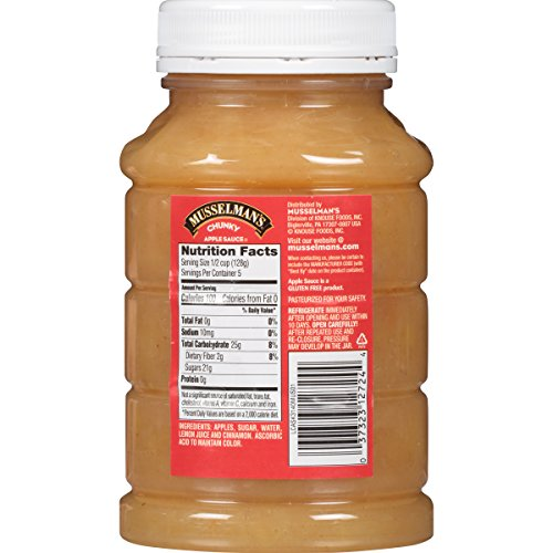 Musselman's Chunky Apple Sauce Plastic Jars, 24 Ounce (Pack of 12) by Musselmans (Image #1)