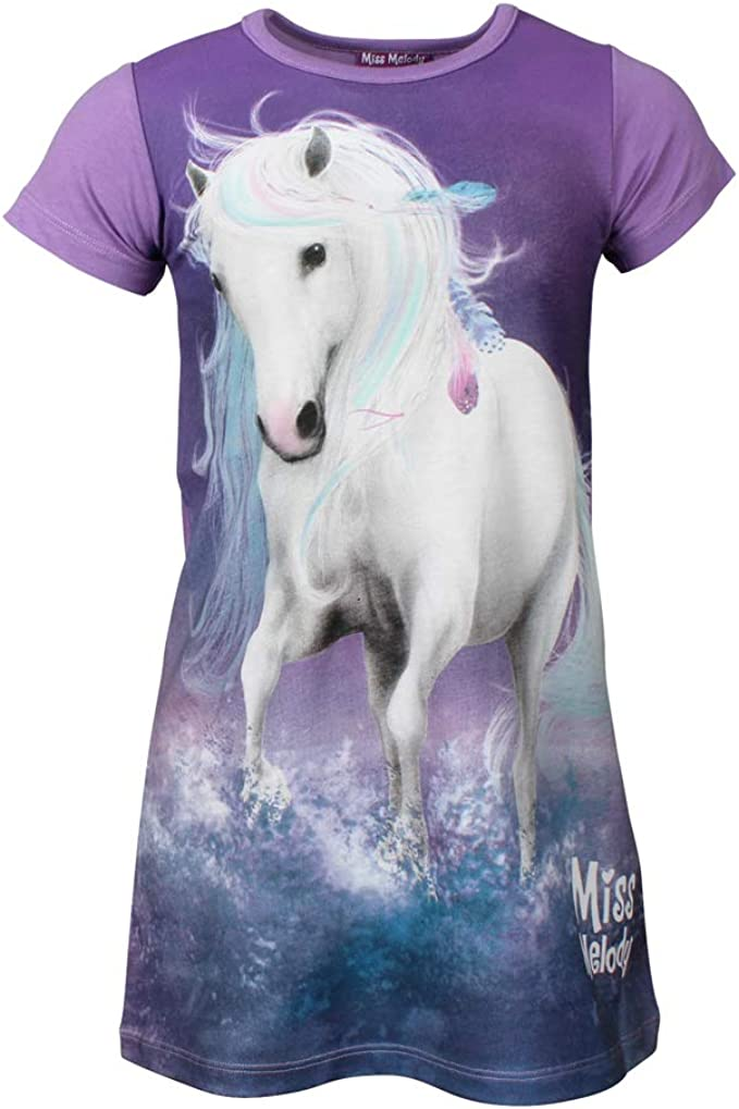 violett lila Miss Melody M/ädchen Nachthemd