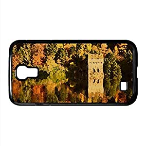 Small Lake Fortress, Autumn Watercolor style Cover Samsung Galaxy S4 I9500 Case (Autumn Watercolor style Cover Samsung Galaxy S4 I9500 Case)