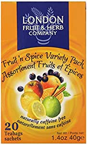 London Fruit & Herb Company Tea, Fruit Spice Variety, 20 Count