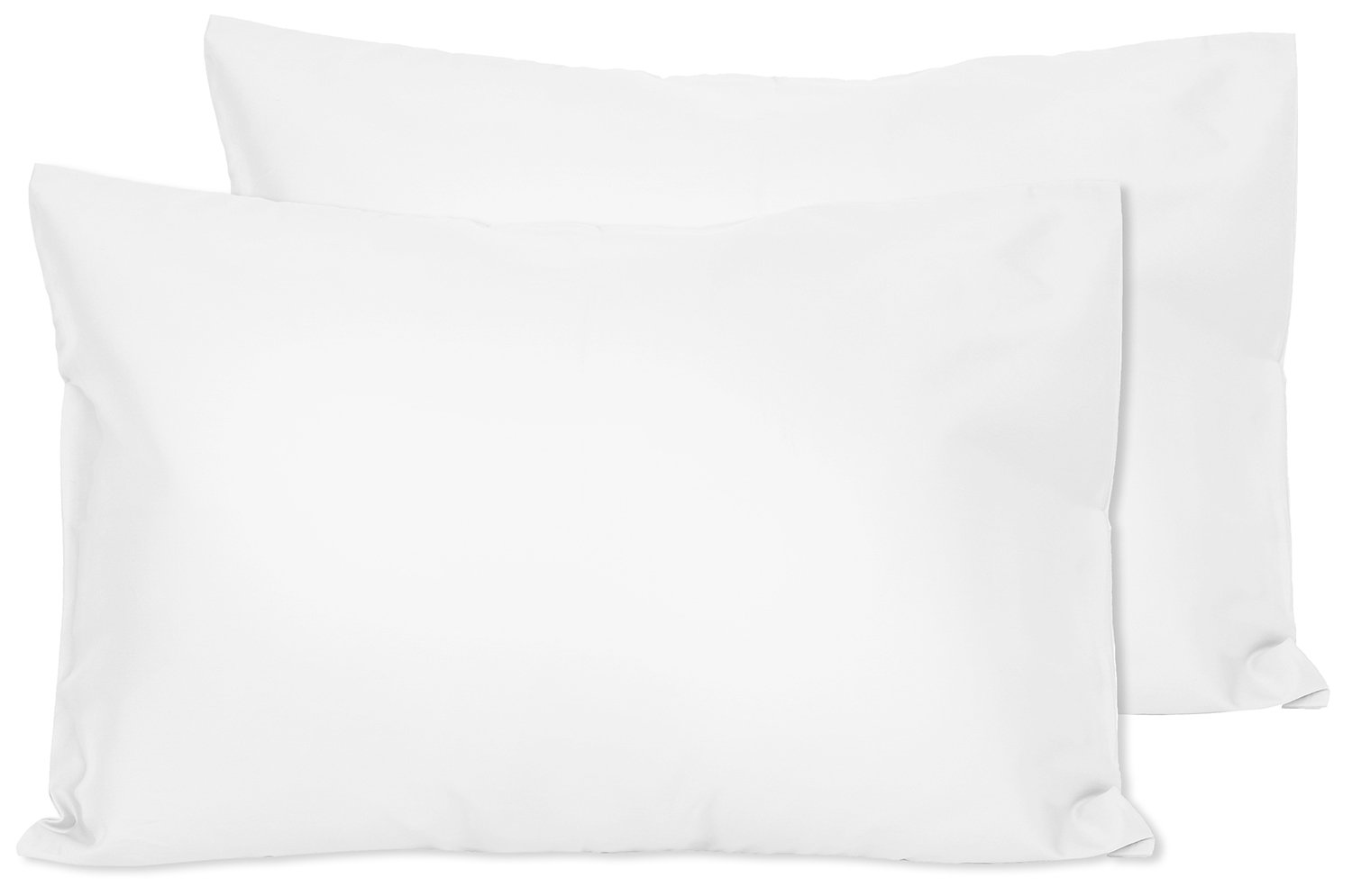 2 Ivory White Toddler Pillowcases - Envelope Style - For Pillows Sized 13x18 and 14x19 - 100% Cotton With Sateen Weave - Machine Washable - 2 Pack Zadisonjaxx Pillow ZJTPC-2iWS2P-111617
