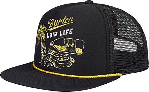 Burton Visor Beanie (Burton 1-80 Snapback Trucker Hat, True Black, One Size)