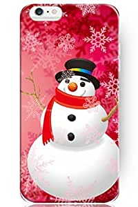 SPRAWL New Vintage Design Personalized Hard Plastic Snap on Slim Fit Happy Snowman 4.7 Inch Iphone 6 Case Christmas