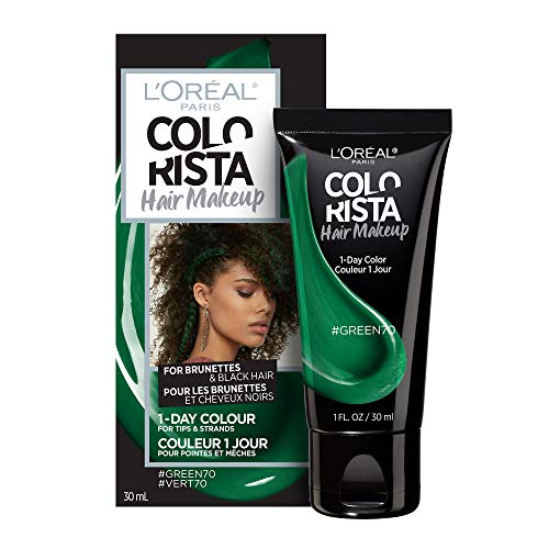 L'oreal Paris Hair Color Colorista Makeup 1-day for Brunettes, Green70, 1 fl. oz.