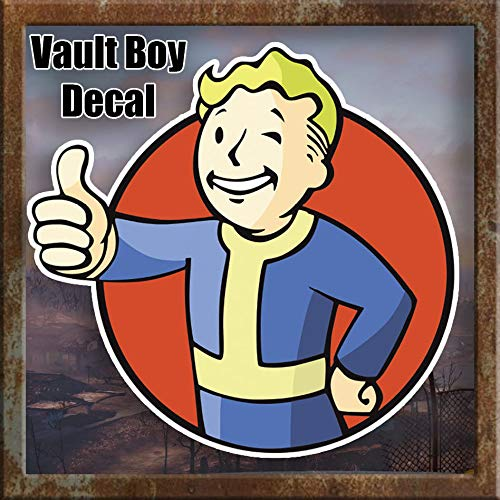 Edwin Group of Companies Vault Boy Fallout Apocalypse Bumper Sticker | Size 3