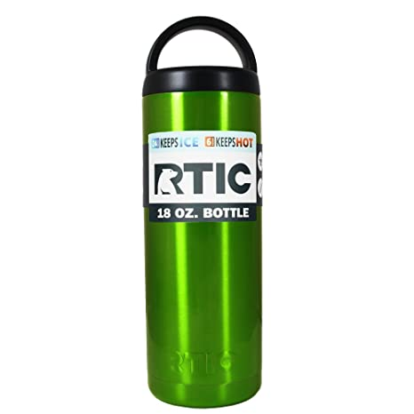 d343cc5e28b Image Unavailable. Image not available for. Color: RTIC Green Apple  Translucent 18 oz Stainless Steel Bottle