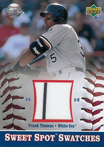 Frank Thomas player worn jersey patch baseball card (Chicago White Sox) 2002 Upper Deck Sweet Spot #S-FT