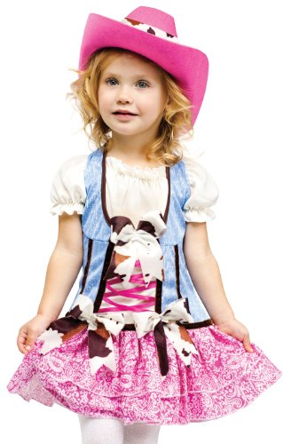 Fun World Costumes Baby Girl's Rodeo Sweetie Toddler Costume, Pink/Blue, Small - Toddler Cowgirl Costume