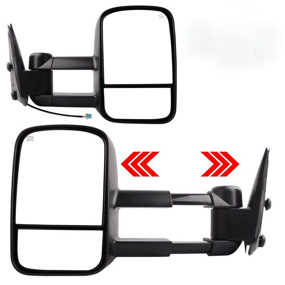 Towing Mirrors, YINTATECH Power Heated Pair Side Tow Mirrors Door Side Mirror for 07-14 Chevy GMC Truck